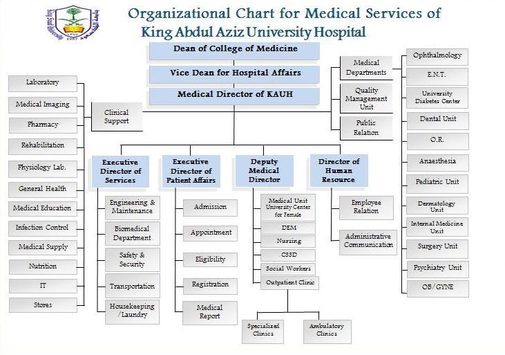 الهيكل التنظيمي كلية الطب
